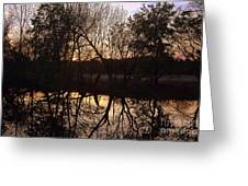 Sunset Along Jordan Creek Greeting Card