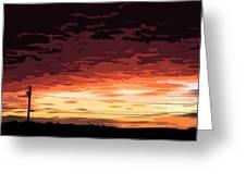 Sunset Alternative Greeting Card