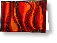 Sunset Amber Greeting Card