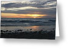 Sunset Amoung The Clouds Greeting Card