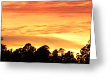 Sunset And Beautiful Clouds Greeting Card