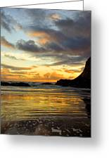 Sunset And Seal Rock Greeting Card