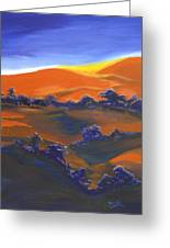 Sunset And Shadow Greeting Card