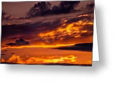 Sunset And Storm Clouds Greeting Card