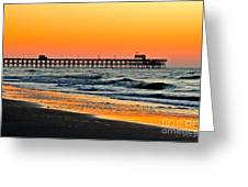 Sunset Apache Pier Greeting Card