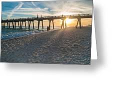 Sunset Art Greeting Card