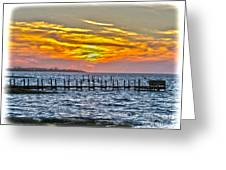 Sunset Art Outer Banks Greeting Card