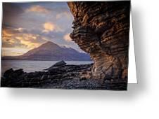 Sunset At Algoll Scotland Greeting Card