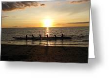 Sunset At Anaeho'omalu Bay Greeting Card