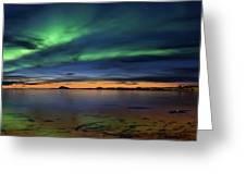 Sunset At Andenes Greeting Card