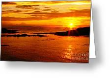 Sunset At Bic Greeting Card