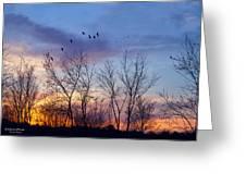 Sunset At Black Burn Greeting Card
