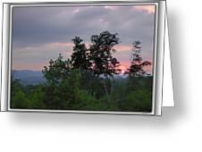 Sunset At Brasstown Bald Greeting Card