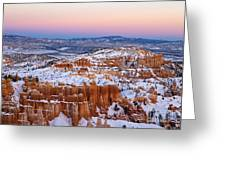 Sunset At Bryce Canyon National Park Utah Greeting Card