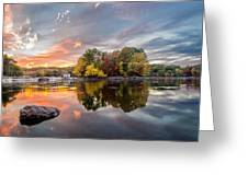Sunset At Cambridge Reservoir Greeting Card