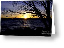 Sunset At Cave Rock Greeting Card