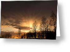 Sunset At Columbia River Gorge Oregon Greeting Card