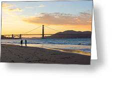 Sunset At Crissy Field With Golden Gate Bridge San Francisco Ca 5 Greeting Card