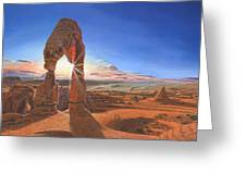 Sunset At Delicate Arch Utah Greeting Card