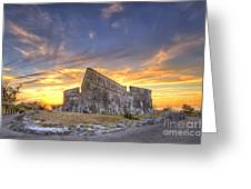 Sunset At Fort Fincastle Greeting Card