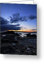 Sunset At Fort Getty Greeting Card