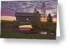 Sunset At Foster Bridge Greeting Card