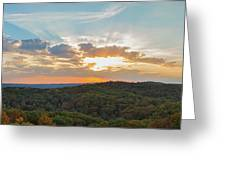 Sunset At Garden Of The Gods Greeting Card