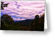 Sunset At Gorges State Park Greeting Card