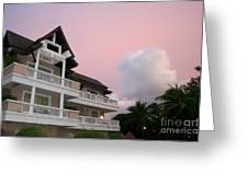 Sunset At Grand Laguna Greeting Card
