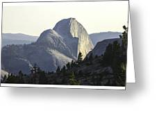 Sunset At Half Dome From Olmsted Pt Greeting Card