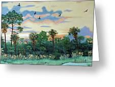 Sunset At Hunting Island Greeting Card