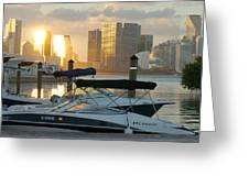 Sunset At Key Biscayne Greeting Card