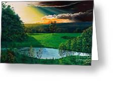 Sunset At L Hermitiere Greeting Card