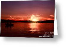 Sunset At Lake Of The Woods Greeting Card