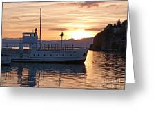 Sunset At Lake Ohrid Greeting Card