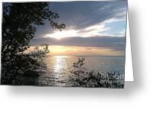 Sunset At Lake Winnipeg Greeting Card