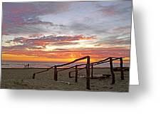Sunset At Las Glorias Over Sea Of Cortez-sinaloa Greeting Card