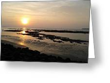 Sunset At Marine Drive Greeting Card