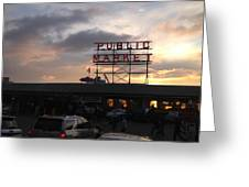 Sunset At Market Greeting Card