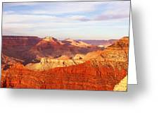 Sunset At Mather Point Grand Canyon Greeting Card