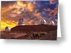 Sunset At Mauna Kea Summit Greeting Card