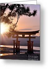 Sunset At Miyajima Greeting Card