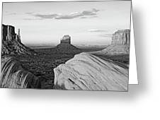 Sunset At Monument Valley, Monument Greeting Card