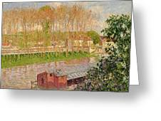 Sunset At Moret Sur Loing Greeting Card