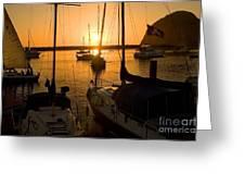Sunset At Morro Bay Greeting Card