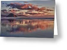 Sunset At Morro Strand Greeting Card