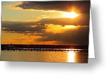 Sunset At National Harbor Greeting Card