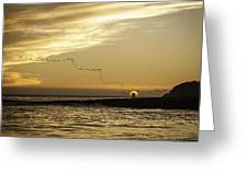 Sunset At Natural Bridges By David Kerbyson  Greeting Card