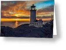 Sunset At North Head Greeting Card by Robert Bales