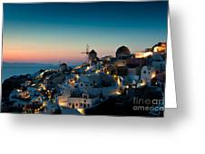 Sunset At Oia Greeting Card